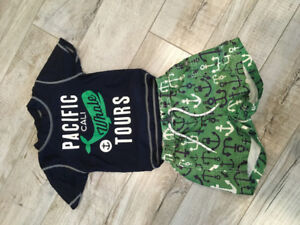 Carter's Bathing suit and rash guard - 18 months