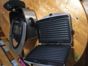 Grill and deep fryer