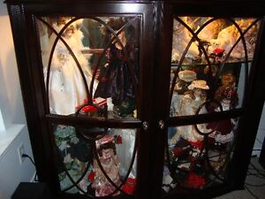 Collectable Dolls & Cabinet