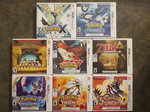 Several 3DS games (mostly pokemon) for Sale