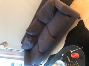 Grey three seater couch