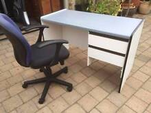 Old Grey Desk with Office Chairs Beckenham Gosnells Area Preview