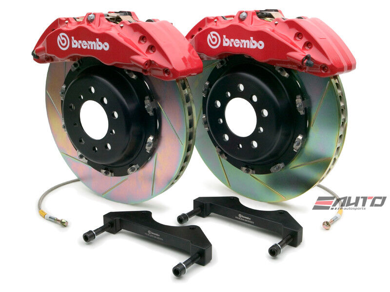 Brembo Front Gt Bbk Big Brake 6pot Caliper Red 380x34 Slot Rotor Tundra 07-13
