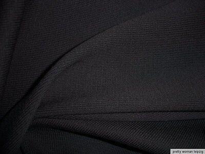0,5 Lfm Strickstoff 4,85€/m²  Hochbausch schwarz FG15