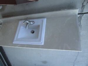 Bathroom countertop with sink