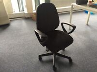 10 x Black office swivel chairs. Delivery.