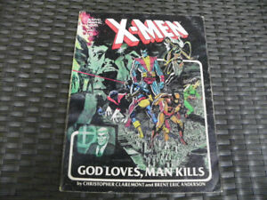 X-Men God Loves Man Kills Marvel Comics Graphic Novel 1st print