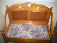 foyer storage bench 37 inches wide x34 inches high