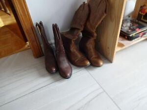 Cow Boy boots - child size 3 & adult size 40