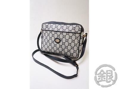 Authentic Pre-owned Gucci Vintage Gucci GG Plus Crossbody Shoulder Bag Blue NR