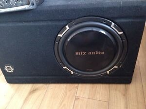 "12"" sub with box and amp."