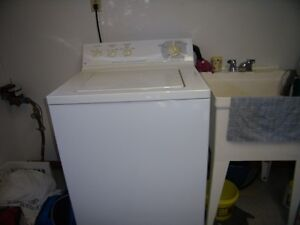 WASHER  AND DRYER,2 SOFAS AND 2 BAR STOOL