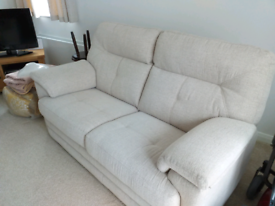 Cream SCS two large seater sofa and large chair