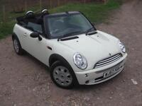 2007 MINI CONVERTIBLE ONE WHITE CONVERTIBLE CONVERTIBLE PETROL