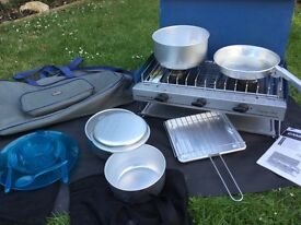 Camping gas stove and equipment