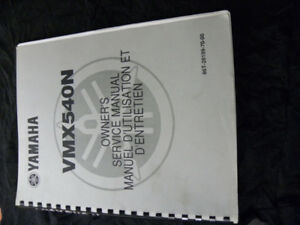 Yamaha VMAX 540 Manual