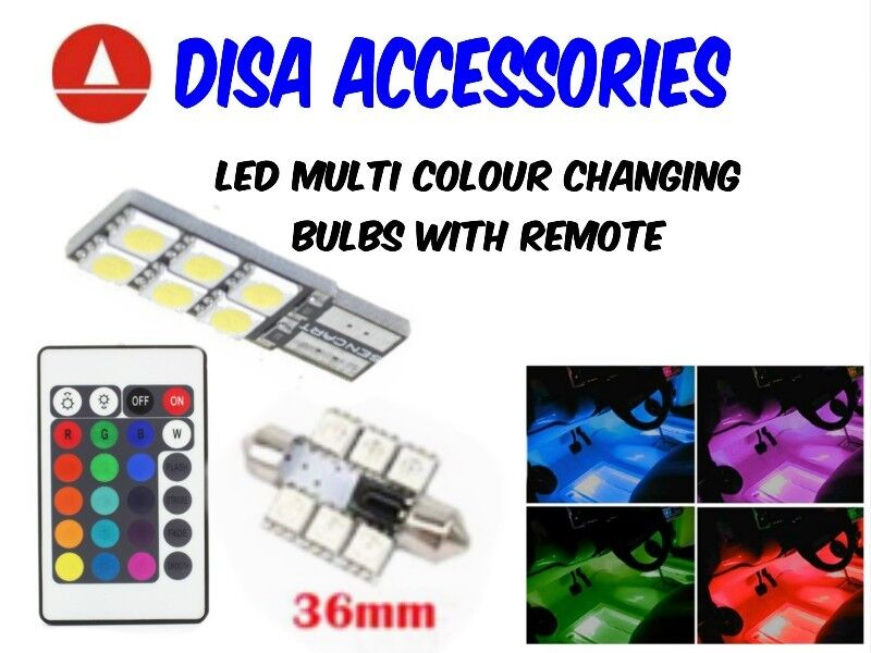 LED Multi Colour Bulbs with Remote