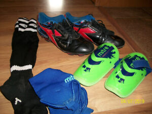 Kids Soccer Shoes and Pads