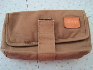 Olive Military Green Cotton Canvas Jeep Bag Pouch