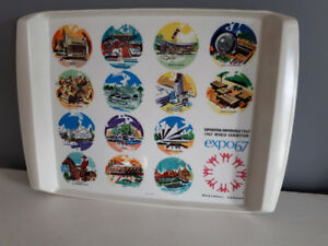 Vintage  Expo 67 Terre des Hommes plastic tray