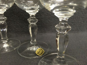 Collectible Antique Set of 6 Bohemia Crystal Sherry Glasses Neve London Ontario image 4