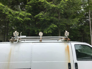 Ladder rack for panel van