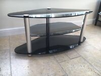 High quality heavy duty black glass to stand