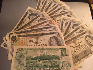 16x 1973 Canada $1 Bank Note