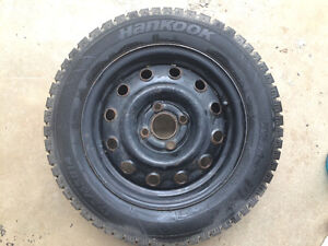 Hankook i Pike Winter tires and rims 175/65R14 Kawartha Lakes Peterborough Area image 1