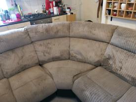 Charcoal Bradley Fabric Recliner Corner Sofa