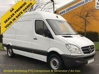 2013 Mercedes Sprinter 316 CDI 160 Mwb Hi/Roof # PTO Compressor+Mess Unit # Van
