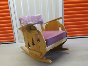 Rocking chair solid elm