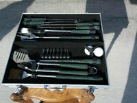 BBQ Tool Set with Metal Case