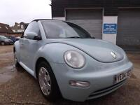 Volkswagen Beetle 1.6 2004 CABRIOLET 93000 MILES P/HISTORY LEATHER SEATS