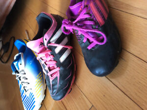 Souliers soccer filles (3paires Adidas)