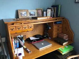 Table  de travail/ bureau en chêne
