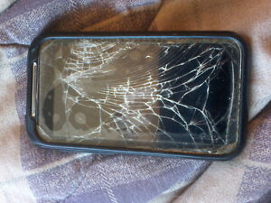 virgin mobile htc with cracked screen