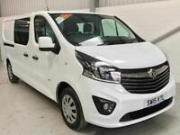 VAUXHALL VIVARO SPORTIVE CREW CAB 1.6CDTi 120PS BiTurbo 6 SEATER COMBI NEW SHAPE