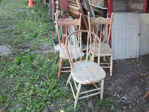#greenspotantiques lots of old chairs, presback, country, rocker