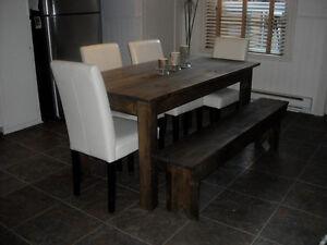 Salle manger cuisine dans laurentides meubles for Banc pour ilot de cuisine