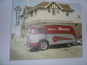 1939 drewry's beer delivery truck, winnipeg manitoba