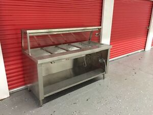 6 Ft Electric Commercial Steam Table - Five Wells MINT !