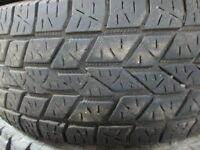 2 KELLY SAFARI LT285/70R17 TIRES 80% TREAD