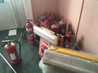 All different fire extinguishers