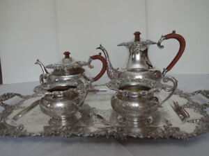 Antique Silverplate Tea and Coffee Set