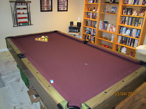 4X8 POOL TABLE GREAT FOR THE MAN/SHE CAVE