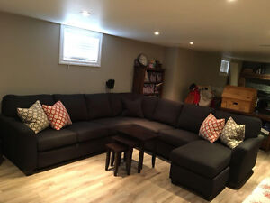 Bennetts Upholstered Sectional Couch