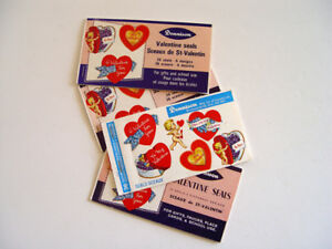 Vintage School Valentine Seals (Stickers) Booklets