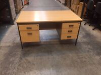 Desk with double drawers