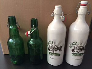 Ceramic Resealable Beer Bottles.